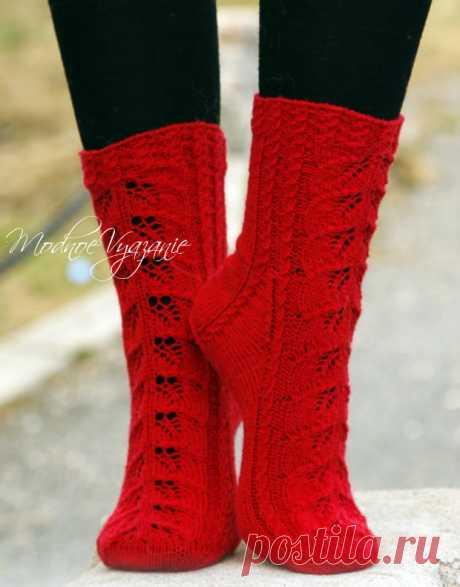 Ажурные носки Autum Glow - Modnoe Vyazanie ru.com