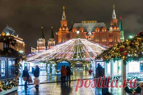 Москва. Новогодняя иллюминация.