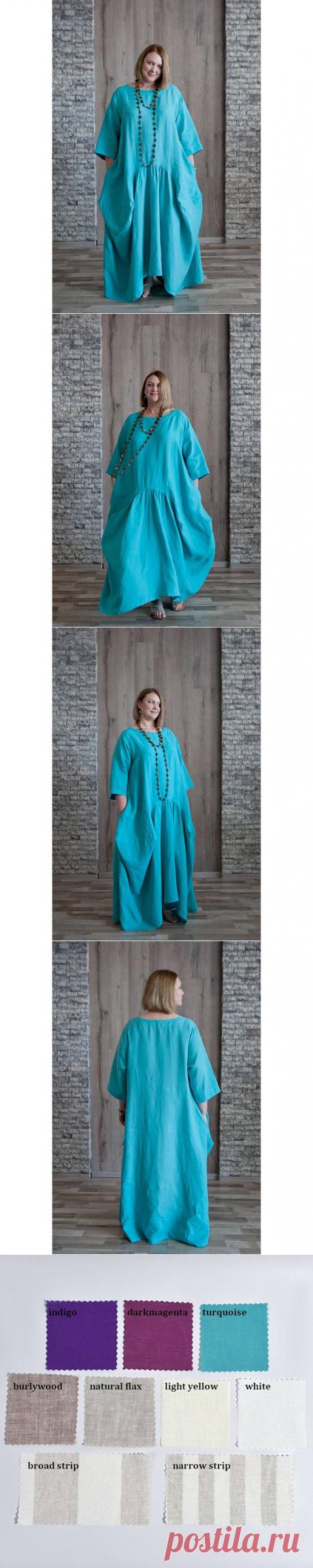 Linen dress with long sleevesLinen summer dress