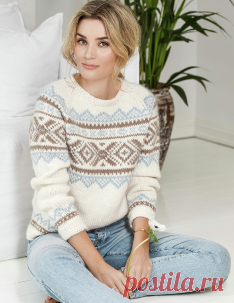 Вязаный пуловер Iris | ДОМОСЕДКА