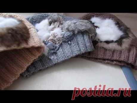 Вязанные шапки с вышивкой.А так же болталка от Ксении