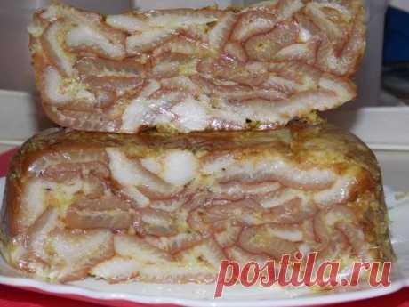 Закуска из свиной шкурки