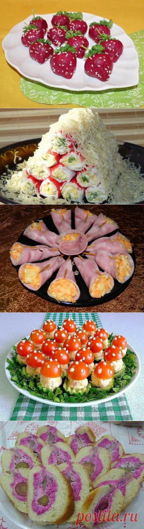 Необычные закуски на праздничный стол. - likemi.ru