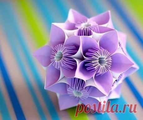 Кусудамы — шары счастья. Такую красоту из бумаги можно сделать для новогоднего декора . Милая Я