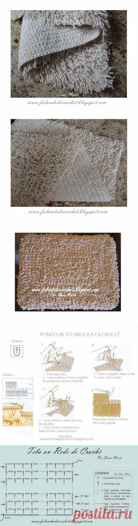 Оригинальные коврики крючком от Sônia Maria, Бразилия. Мастер-классы.