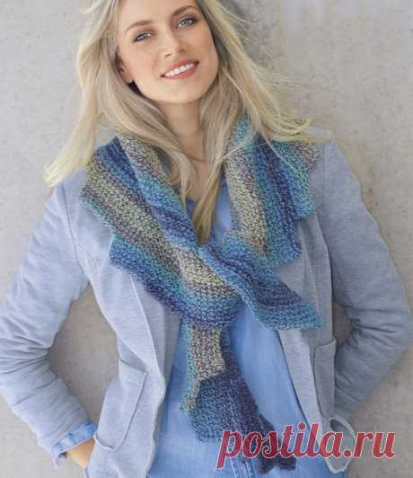 Color shawl with the slanted ends spokes - the Portal of needlework and fashion