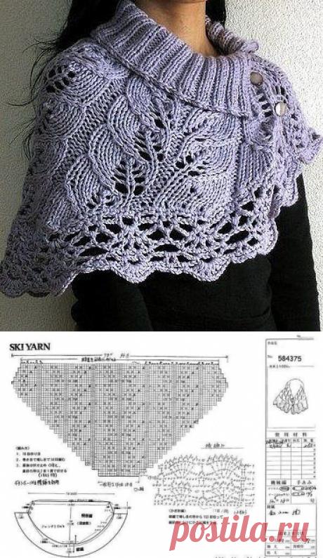 Уютный шарф-воротник из категории Интересные идеи – Вязаные идеи, идеи для вязания