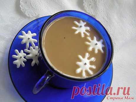 Снежинки к кофе! Очень оригинально!!!