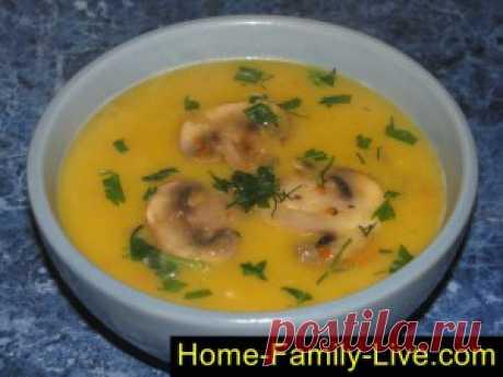Суп пюре из тыквы с грибами/Сайт с пошаговыми рецептами с фото для тех кто любит готовить