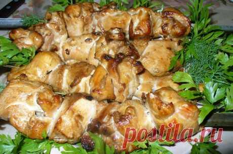 Кулинарная Академия Умных Хозяек: Шашлык из куриной грудки в соевом маринаде.