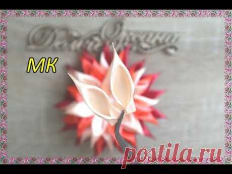 Цветы из Лент/Бантики из лент/Flowers from Satin Ribbons/DIY/Канзаши/Резинки/Заколки/Ободок