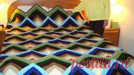 Вязание афганской пирамиды - вязание крючком Скачать Бесплатно