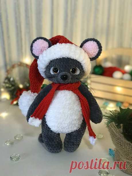 LanaMi toys, вязание крючком год крысы, мышка крючком описание и схема, игрушка мышка амигуруми
