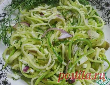 Салат легкий из кабачков – кулинарный рецепт