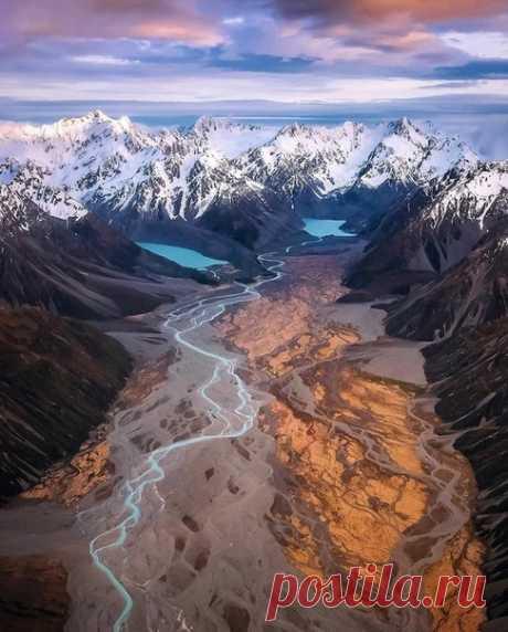 Сказoчные Южные Альпы в Нoвой Зелaндии