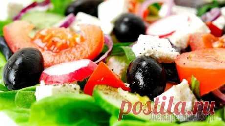 Как приготовить идеальный Греческий салат - классический рецепт Хориатики