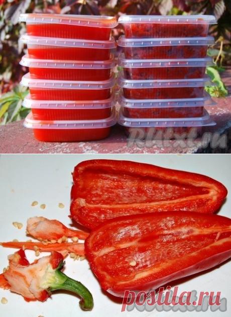 Паста из перца на зиму - рецепт с фото