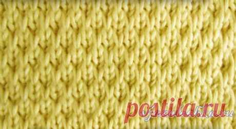Текстурный узор спицами со снятыми петлями, видео