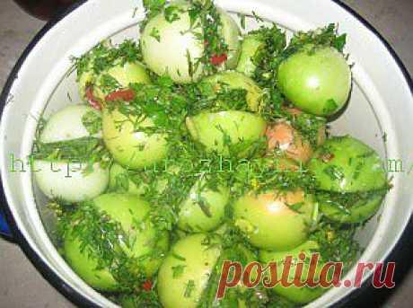 Острые зеленые помидоры на зиму | Урожайная дача
