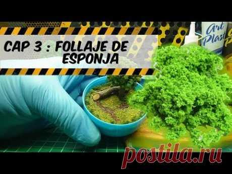 Tuto taller 3.0 Follaje de esponja ( arboles y arbustos)