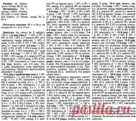 Вязаные зимние шапки | ВЯЗАНИЕ ШАПОК: женские шапки спицами и крючком, мужские и детские шапки, вязаные сумки | Страница 3