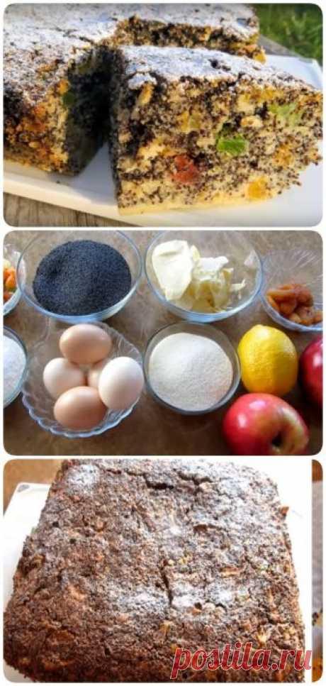 Необыкновенно вкусный пирог без муки с маком и яблоками - interesno.win