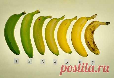 Какие бананы нужно есть: зеленые или с темными точками а может просто желтые?