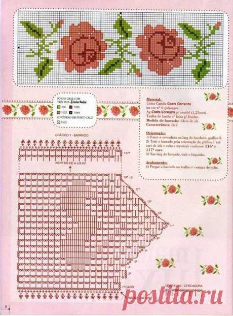 схемки бордюрчиков / Схемы вышивки крестиком / PassionForum - мастер-классы по рукоделию