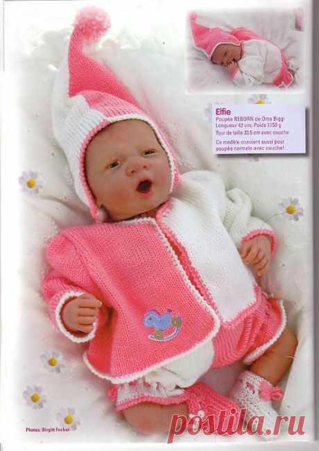 Вязаная одежда для кукол со схемами и описанием - 2.