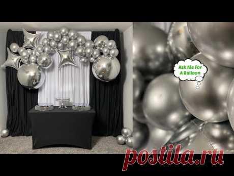 Silver Chrome Balloon Garland