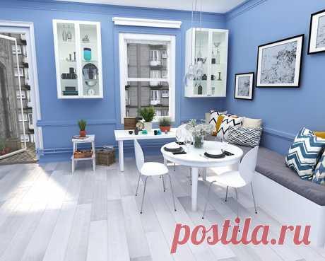 Как синий цвет может освежить интерьер и с чем его лучше сочетать? Все ответы на вопросы о дизайне  на сайте Стоун Флор Новосибирск
