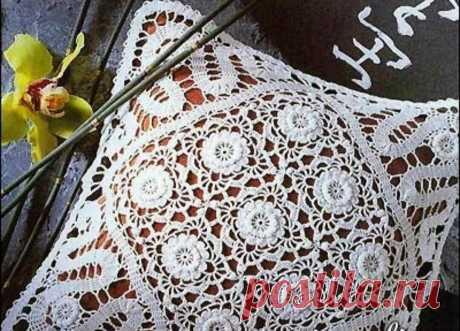Кружевная наволочка на подушку - разбираем схему | Tvorlen | Яндекс Дзен