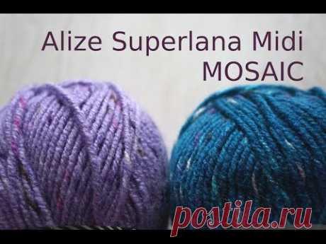 Обзор Alize Superlana Midi MOSAIC \\ стильные цветовые сочетания \\