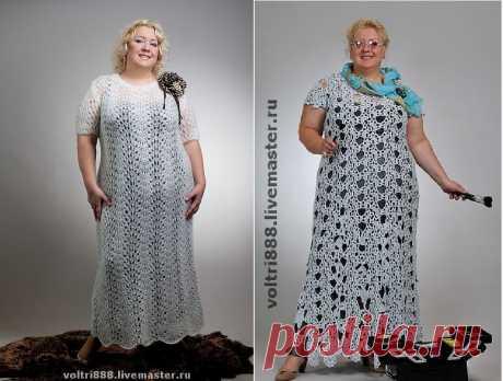 Летние вязаные платья для шикарных размеров: 6 вариантов, 3 инструкции   Записки Спицеманьяка   Яндекс Дзен