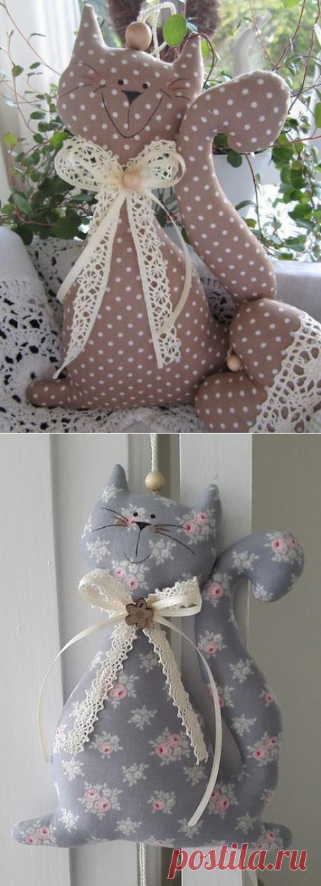 Текстильные котики. Выкройка