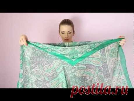 The stylist Anastasia Odels Kak to tie a scarf (scarf) in the different ways