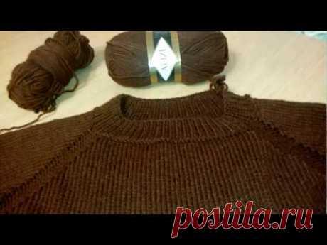 Мужской пуловер из Alize lanagold classic регланом сверху/ Часть 1 - расчеты, начало процесса