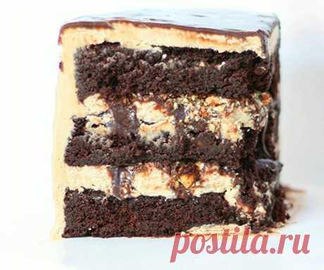 Recipe of almond and chocolate cake.