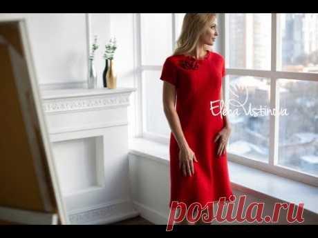 """Авторское платье валяное """"Очарование красного"""""""