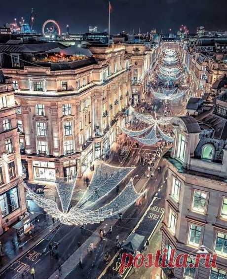 Лондонская атмосфера Рождества