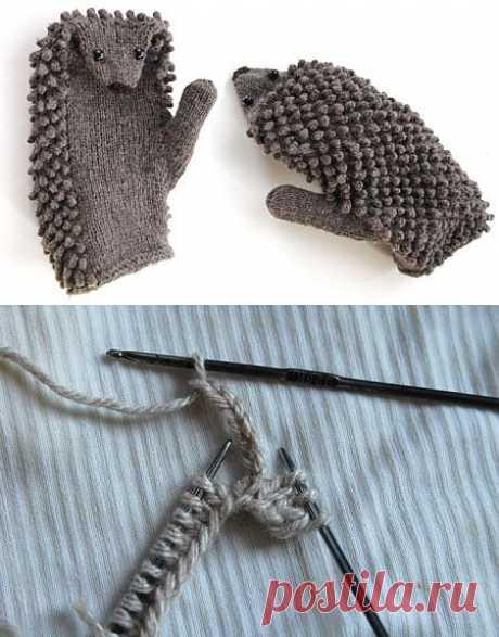 """""""Ежовые рукавицы"""" - мастер-класс по вязанию колючек ."""