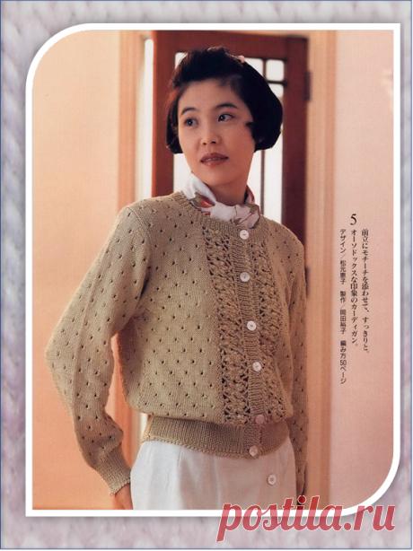 Вязаные модели для тандема спиц и крючка из иностранных журналов | Embroidery art | Яндекс Дзен