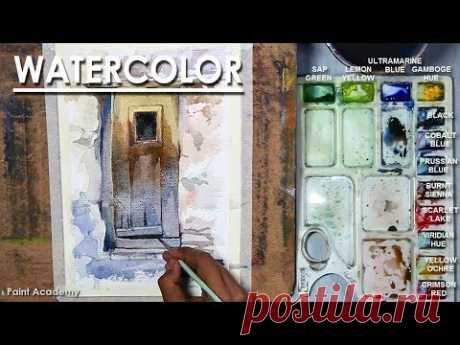 Watercolor Painting : Old Door