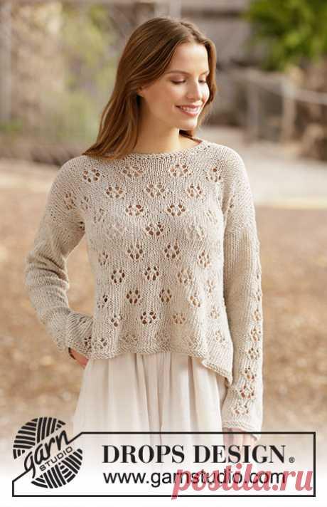 Джемпер Free Flow Sweater от DROPS Design - блог экспертов интернет-магазина пряжи 5motkov.ru