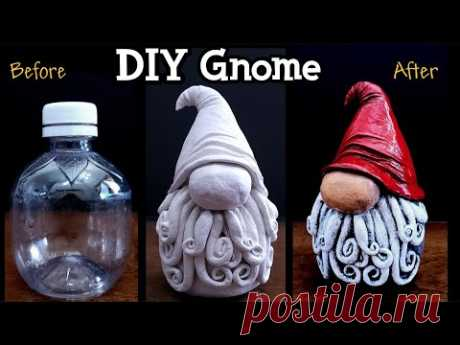 DIY Miniature Gnome | Recycling A Plastic Bottle | DIY Home Decor