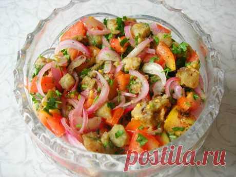 Салат из баклажанов - легко, вкусно и бюджетно!