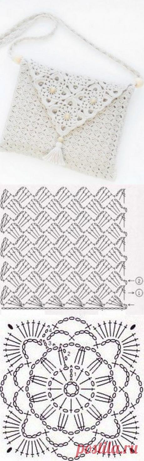 Нежная белая сумочка крючком из категории Интересные идеи – Вязаные идеи, идеи для вязания