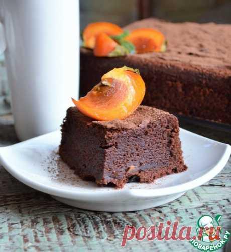 """Шоколадный торт с хурмой """"Восхищение"""""""