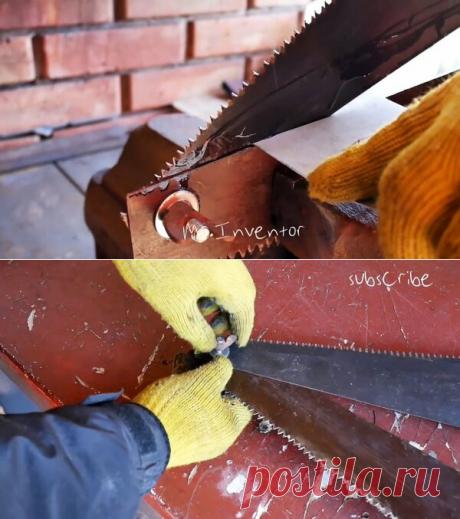 Резак по металлу из старых ножовок | Сделай сам - своими руками | Яндекс Дзен