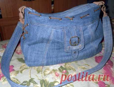 Шьем джинсовую сумку сами. Идеи.